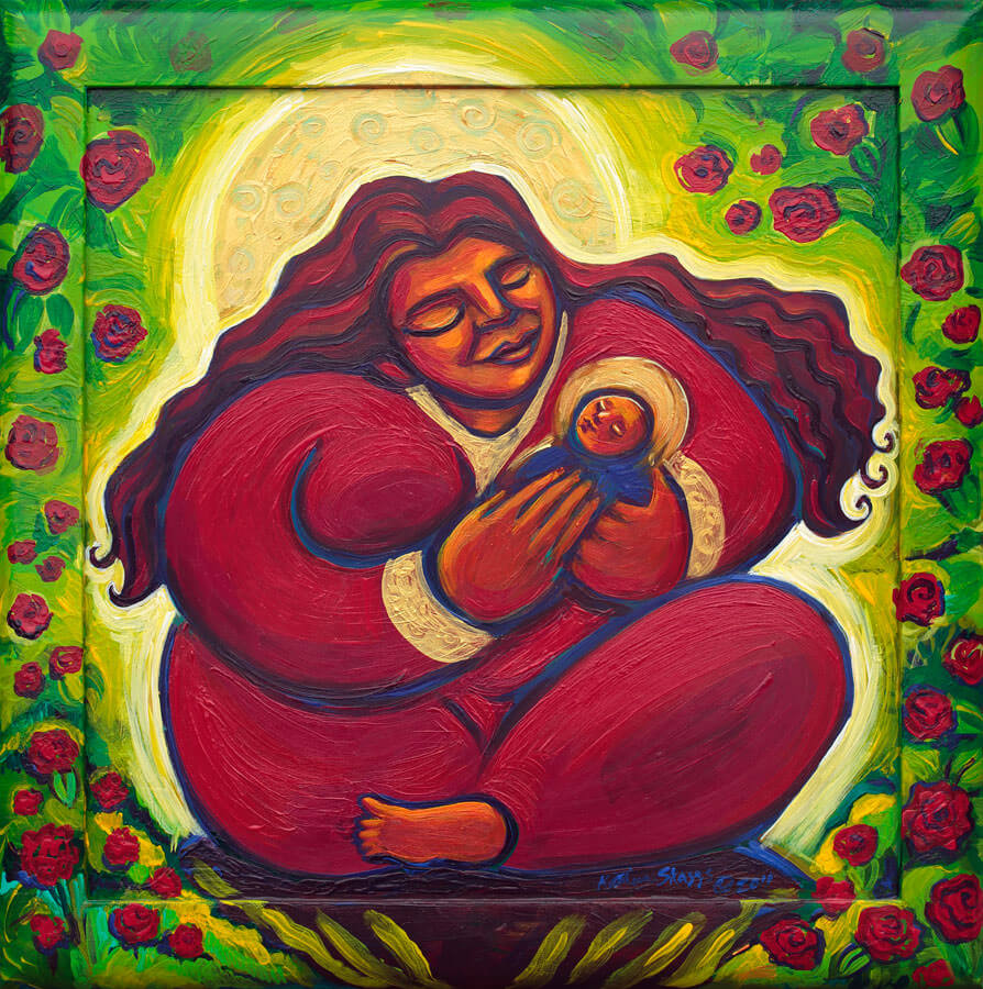 1151.Rose-Madonna-and-Child-by-Katherine-Skaggs