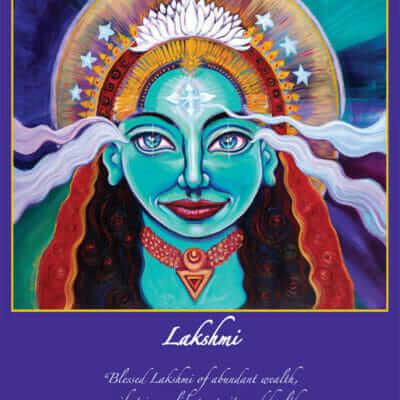 Katherine Skaggs Lakshmi Altar Card