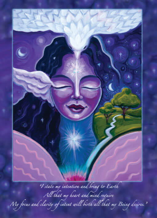 Katherine Skaggs Heavenly Night Angel of Peace Altar Card