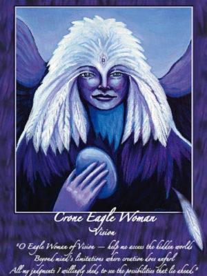 Crone Eagle Woman Altar Card