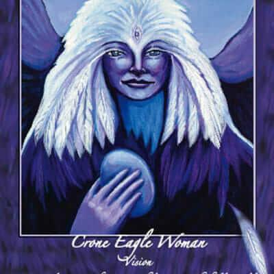 Katherine Skaggs Crone Eagle Woman Altar Card
