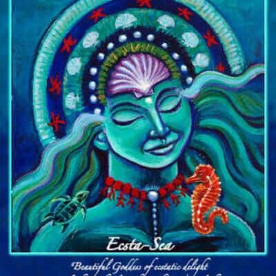 Katherine Skaggs Ecsta Sea Altar Card