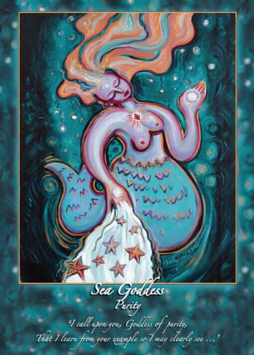 Katherine Skaggs Sea Goddess Purity Altar Card