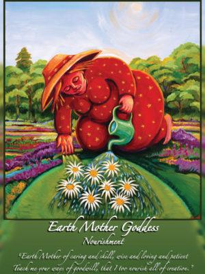 Earth Mother Goddess Altar Card