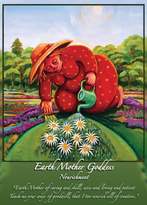 Katherine Skaggs Earth Mother Goddess Altar Card