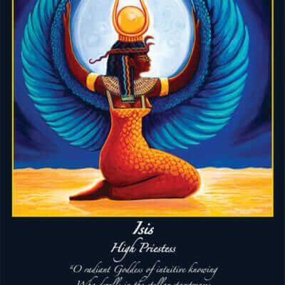 Katherine Skaggs Isis Altar Card