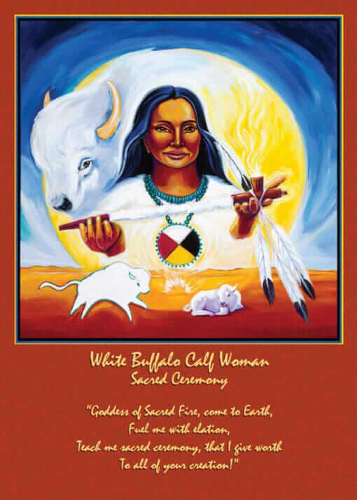 Katherine Skaggs White Buffalo Calf Woman Altar Card