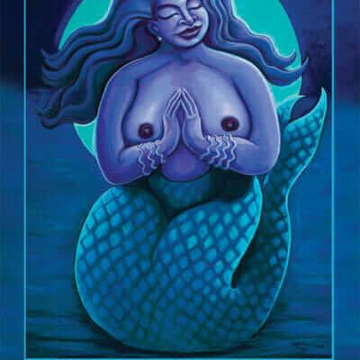 Katherine Skaggs Yemaya Altar Card