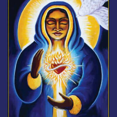 Katherine Skaggs Mother Mary Altar Card