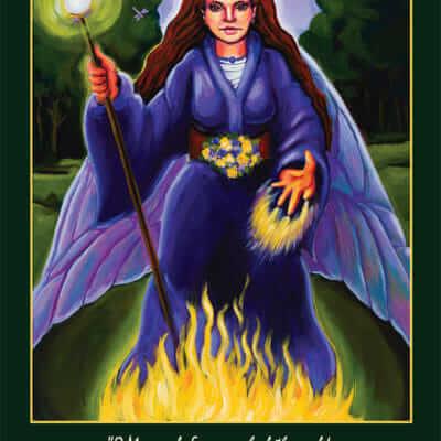 Katherine Skaggs Morgan le Fay Altar Card