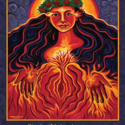 Katherine Skaggs Pele Altar Card