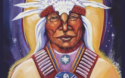 white eagle ascended master altar card by katherine skaggs