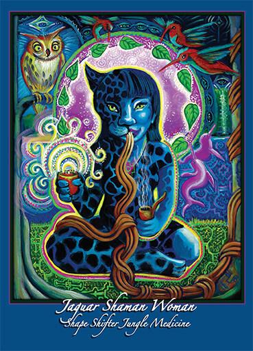 Katherine Skaggs Jaguar Shaman Woman altar card
