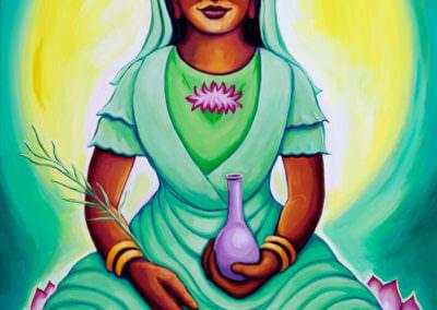 Katherine Skaggs Kuan Yin on Lotus
