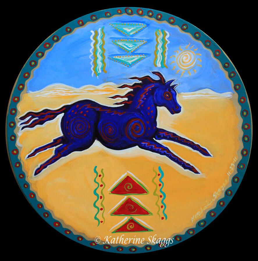 KATHERINE-SKAGGS-Horse-Medicine-Drum