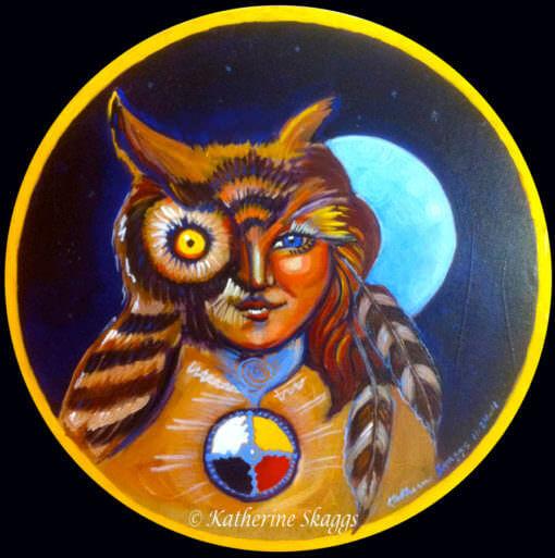 Owl Shaman Medicine Drum
