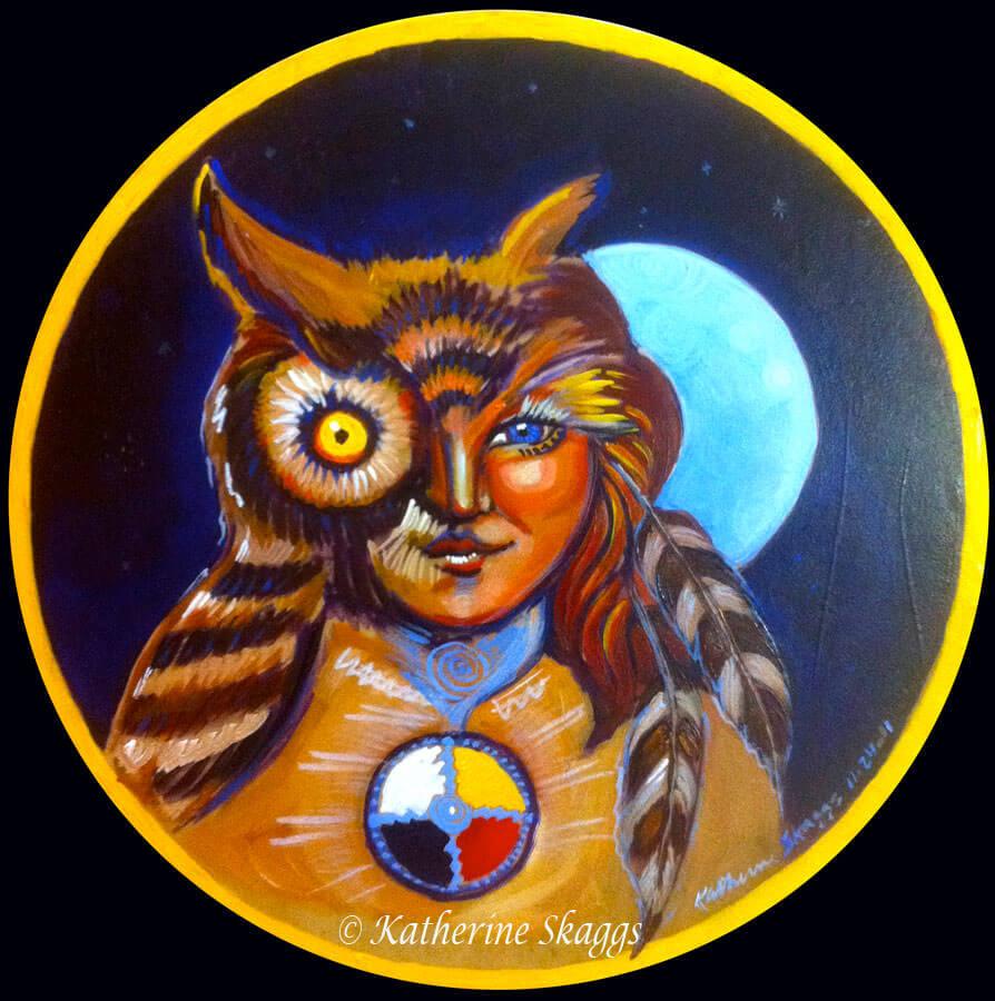 KATHERINE-SKAGGS-OWL-SHAMAN-MEDICINE-DRUM