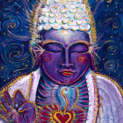 Katherine Skaggs Purple Buddha