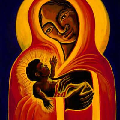 Katherine Skaggs Black Madonna and Child