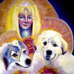 "Soul Portrait 24x30"" Mom & Dogs"