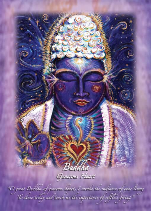 Katherine Skaggs Purple Buddha Altar Card
