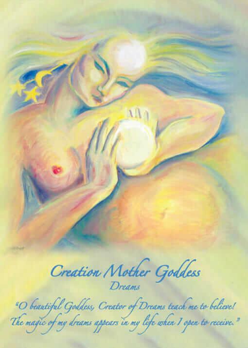 Katherine Skaggs Creation Mother Goddess Altar Card