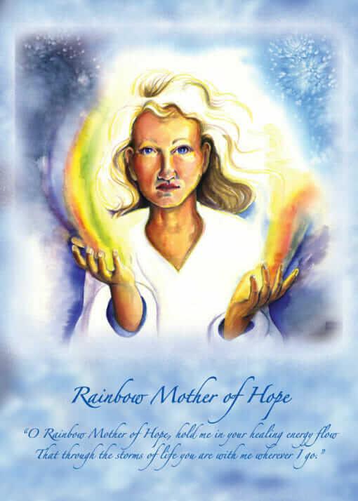 Katherine Skaggs Rainbow Mother of Hope Altar Card