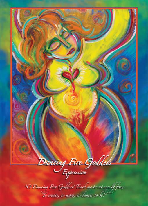 Katherine Skaggs Dancing Fire Goddess Altar Card