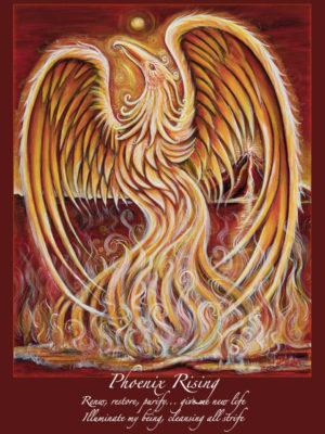Phoenix Rising Altar Card