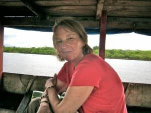 Katherine on the Amazon River of Peru
